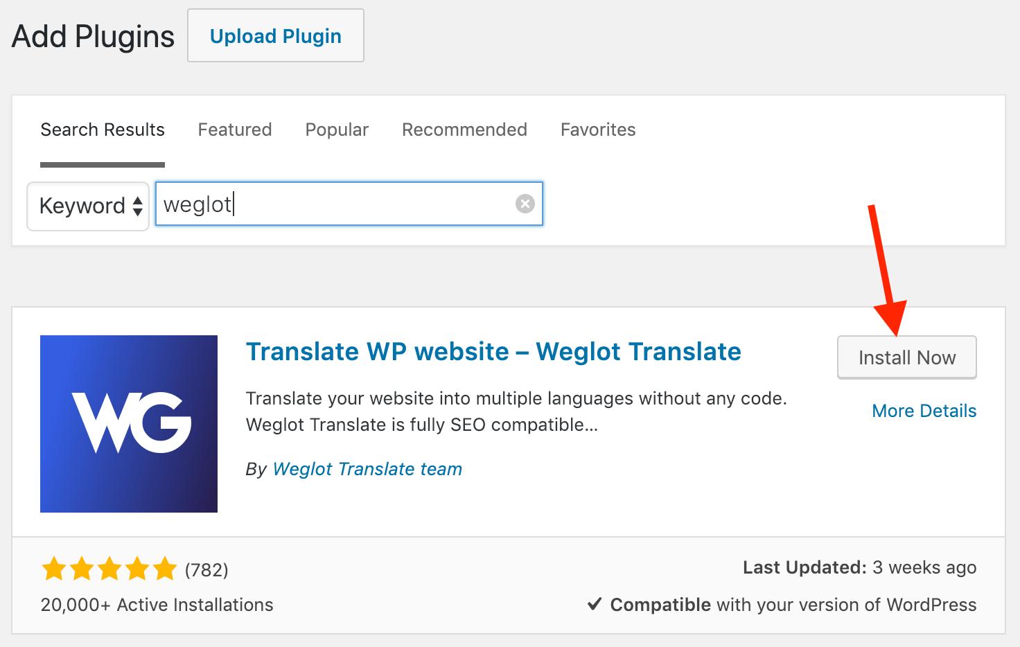 translate wp site weglot