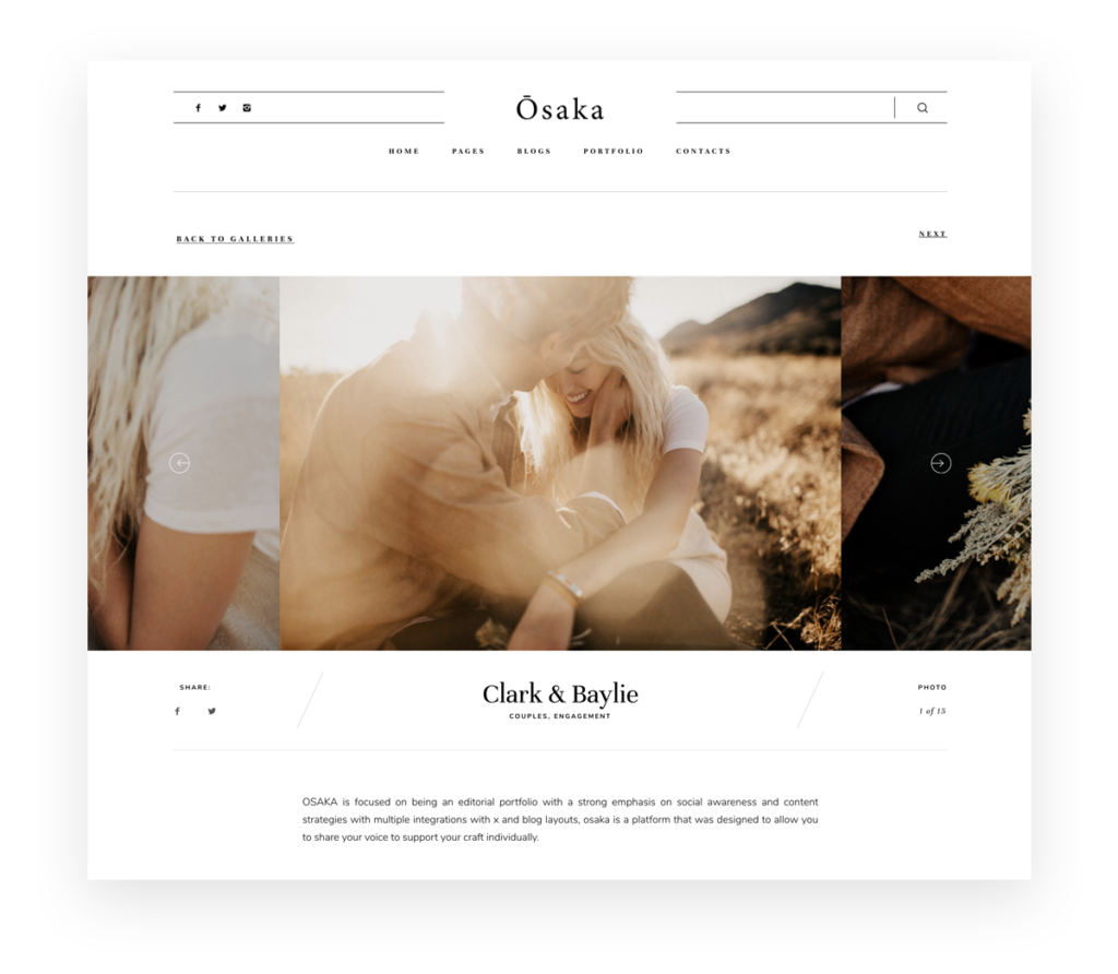 Osaka - Best Website Theme for Storytellers & Bloggers, India Earl photography, Flothemes websites for photographers, Gallery-B