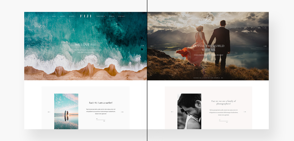 fiji-stylekits, Meet Fiji 2 - Best website design for travel, lifestyle, wedding photographers & bloggers-Layouts-&-Style