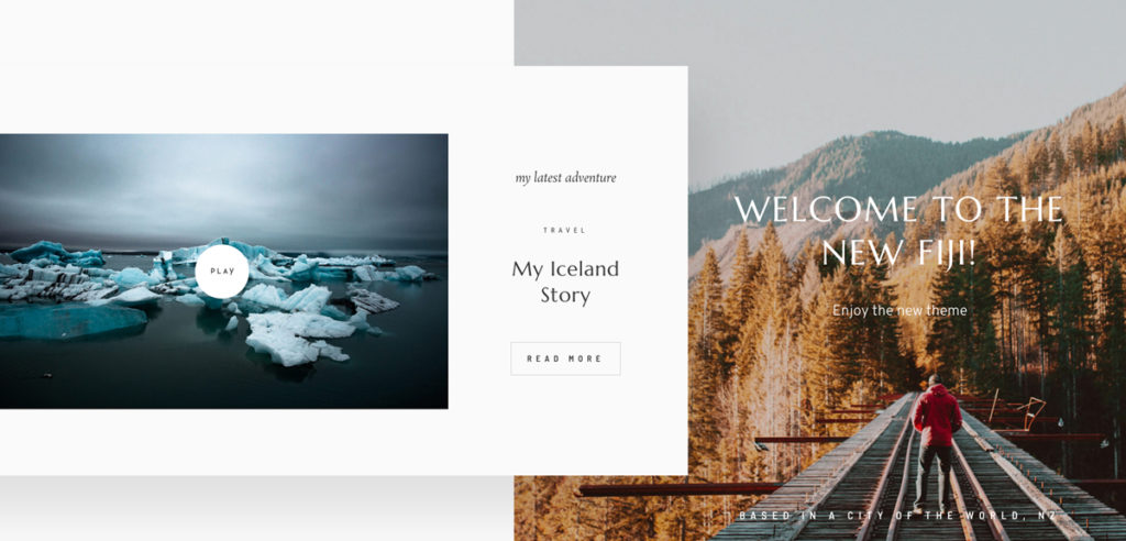 Meet Fiji 2 - Best website design for travel, lifestyle, wedding photographers & bloggers-Layouts-&-Style